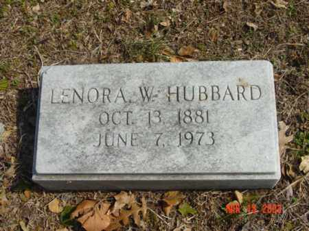 HUBBARD, LEONORA W. - Talbot County, Maryland | LEONORA W. HUBBARD - Maryland Gravestone Photos