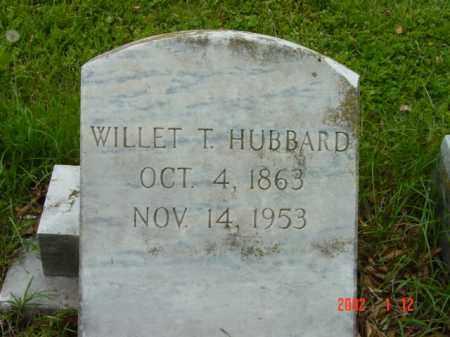 HUBBARD, WILLET T. - Talbot County, Maryland   WILLET T. HUBBARD - Maryland Gravestone Photos