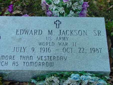 JACKSON SR., EDWARD M. - Talbot County, Maryland | EDWARD M. JACKSON SR. - Maryland Gravestone Photos