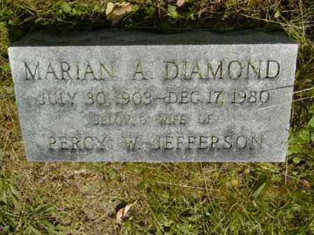DIAMOND JEFFERSON, MARIAN A. - Talbot County, Maryland | MARIAN A. DIAMOND JEFFERSON - Maryland Gravestone Photos