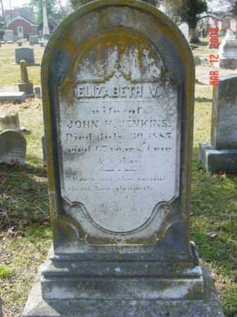 JENKINS, ELIZABETH V. - Talbot County, Maryland | ELIZABETH V. JENKINS - Maryland Gravestone Photos