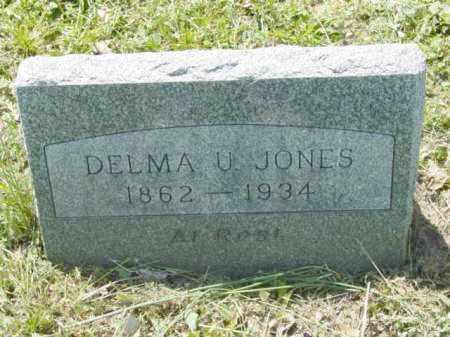 JONES, DELMA U. - Talbot County, Maryland | DELMA U. JONES - Maryland Gravestone Photos