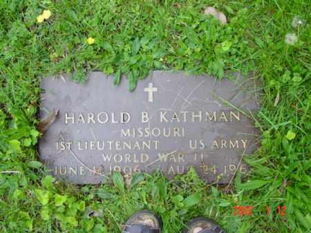 KATHMAN, HAROLD B. - Talbot County, Maryland | HAROLD B. KATHMAN - Maryland Gravestone Photos