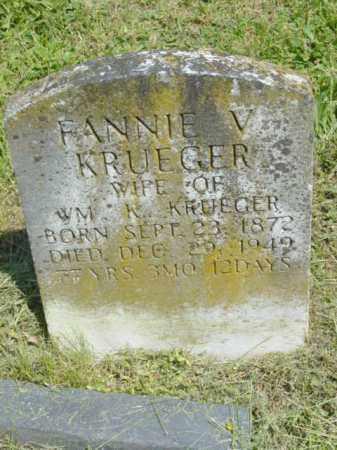 KRUEGER, FANNIE V. - Talbot County, Maryland | FANNIE V. KRUEGER - Maryland Gravestone Photos