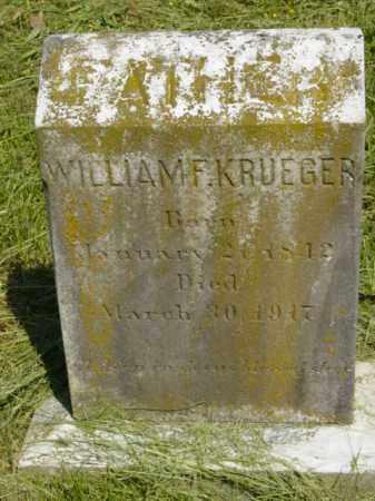KRUEGER, WILLIAM F. - Talbot County, Maryland   WILLIAM F. KRUEGER - Maryland Gravestone Photos