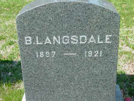 LANGSDALE, B. - Talbot County, Maryland | B. LANGSDALE - Maryland Gravestone Photos