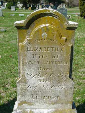 LANGSDALE, ELIZABETH A. - Talbot County, Maryland | ELIZABETH A. LANGSDALE - Maryland Gravestone Photos