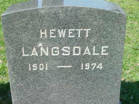 LANGSDALE, HEWETT - Talbot County, Maryland | HEWETT LANGSDALE - Maryland Gravestone Photos