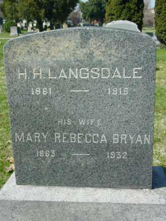 LANGSDALE, H. H. - Talbot County, Maryland | H. H. LANGSDALE - Maryland Gravestone Photos