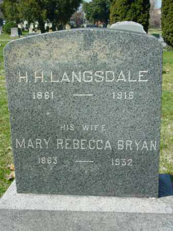 LANGSDALE, H. H. - Talbot County, Maryland | H. H. LANGSDALE - Maryland Gravestone Photos