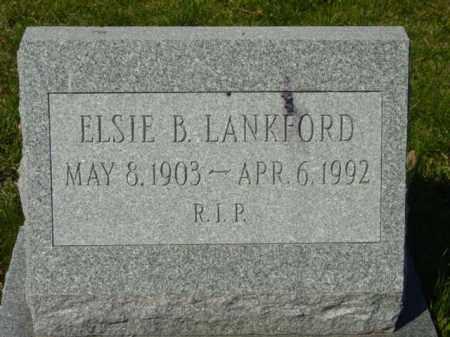 LANKFORD, ELSIE B. - Talbot County, Maryland | ELSIE B. LANKFORD - Maryland Gravestone Photos