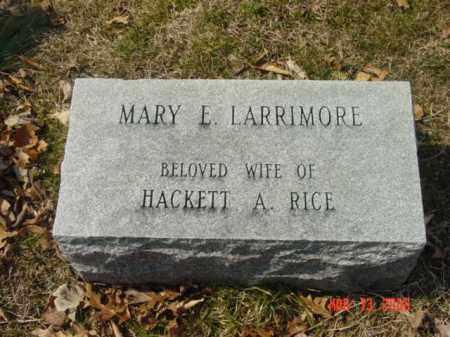 LARRIMORE, MARY E. - Talbot County, Maryland   MARY E. LARRIMORE - Maryland Gravestone Photos