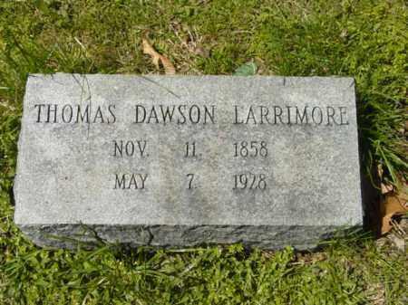 LARRIMORE, THOMAS DAWSON - Talbot County, Maryland | THOMAS DAWSON LARRIMORE - Maryland Gravestone Photos
