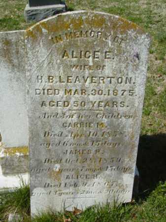 LEAVERTON, ALICE E. - Talbot County, Maryland | ALICE E. LEAVERTON - Maryland Gravestone Photos
