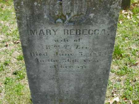 LEE, MARY REBECCA - Talbot County, Maryland   MARY REBECCA LEE - Maryland Gravestone Photos