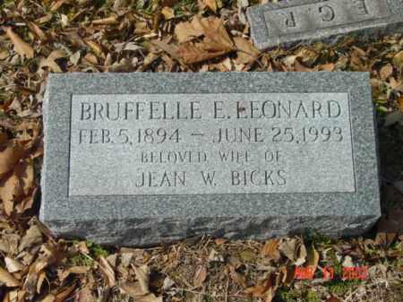 LEONARD, BRUFFELLE E. - Talbot County, Maryland | BRUFFELLE E. LEONARD - Maryland Gravestone Photos