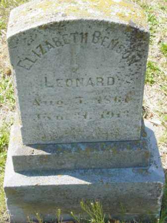 LEONARD, ELIZABETH - Talbot County, Maryland | ELIZABETH LEONARD - Maryland Gravestone Photos