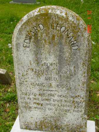 LEONARD, EDWARD - Talbot County, Maryland | EDWARD LEONARD - Maryland Gravestone Photos