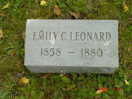 LEONARD, EMILY C. - Talbot County, Maryland | EMILY C. LEONARD - Maryland Gravestone Photos