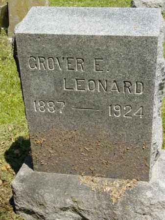 LEONARD, GROVER E. - Talbot County, Maryland | GROVER E. LEONARD - Maryland Gravestone Photos