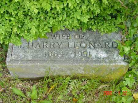 LEONARD, IDA L. - Talbot County, Maryland | IDA L. LEONARD - Maryland Gravestone Photos