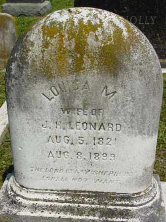 LEONARD, LOUISA M. - Talbot County, Maryland | LOUISA M. LEONARD - Maryland Gravestone Photos