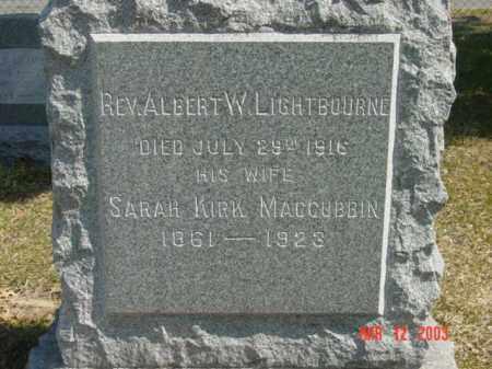 LIGHTBOURNE, REV. ALBERT W. - Talbot County, Maryland | REV. ALBERT W. LIGHTBOURNE - Maryland Gravestone Photos