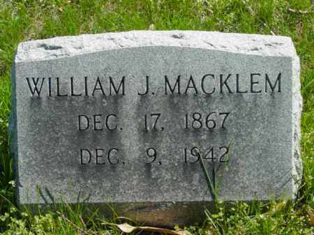 MACKLEM, WILLIAM J. - Talbot County, Maryland | WILLIAM J. MACKLEM - Maryland Gravestone Photos