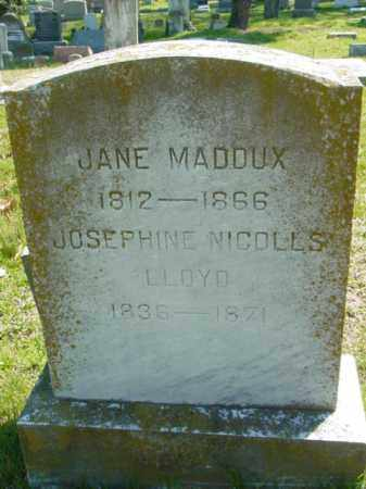 LLOYD, JOSEPHINE NICHOLLS - Talbot County, Maryland | JOSEPHINE NICHOLLS LLOYD - Maryland Gravestone Photos