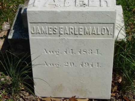 MALOY, JAMES EARLE - Talbot County, Maryland | JAMES EARLE MALOY - Maryland Gravestone Photos