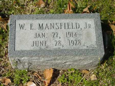 MANSFIELD, JR., W. E. - Talbot County, Maryland | W. E. MANSFIELD, JR. - Maryland Gravestone Photos