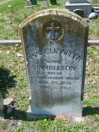 MARTIN, ANN ELIZABETH - Talbot County, Maryland | ANN ELIZABETH MARTIN - Maryland Gravestone Photos