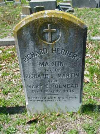 MARTIN, RICHARD HERBERT - Talbot County, Maryland | RICHARD HERBERT MARTIN - Maryland Gravestone Photos