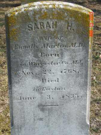 MARTIN, SARAH H. - Talbot County, Maryland   SARAH H. MARTIN - Maryland Gravestone Photos