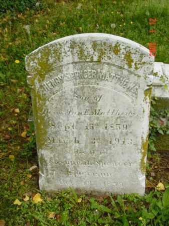 MATTHEW, HENRY SPENCER - Talbot County, Maryland | HENRY SPENCER MATTHEW - Maryland Gravestone Photos