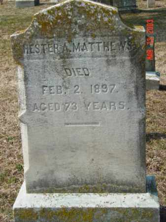 MATTHEWS, HESTER A. - Talbot County, Maryland   HESTER A. MATTHEWS - Maryland Gravestone Photos