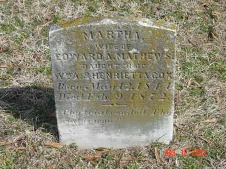 MATTHEWS, MARTHA - Talbot County, Maryland | MARTHA MATTHEWS - Maryland Gravestone Photos