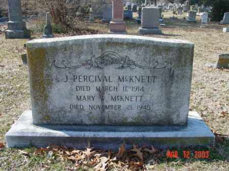 MCKNETT, J. PERCIVAL - Talbot County, Maryland | J. PERCIVAL MCKNETT - Maryland Gravestone Photos