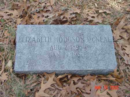 MCNEAL, ELIZABETH HODGSON - Talbot County, Maryland   ELIZABETH HODGSON MCNEAL - Maryland Gravestone Photos