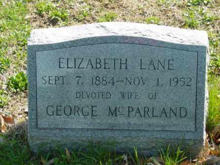 MCPARLAND, ELIZABETH LANE - Talbot County, Maryland | ELIZABETH LANE MCPARLAND - Maryland Gravestone Photos