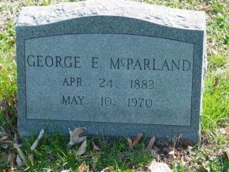 MCPARLAND, GEORGE E. - Talbot County, Maryland   GEORGE E. MCPARLAND - Maryland Gravestone Photos