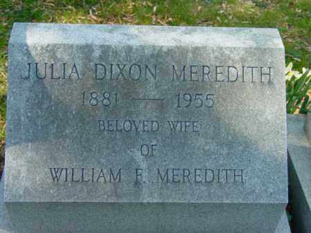 MEREDITH, JULIA - Talbot County, Maryland   JULIA MEREDITH - Maryland Gravestone Photos