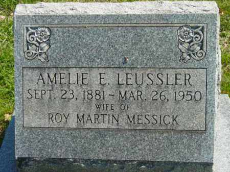 MESSICK, AMELIE E. - Talbot County, Maryland | AMELIE E. MESSICK - Maryland Gravestone Photos
