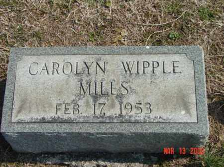 MILLS, CAROLYN WIPPLE - Talbot County, Maryland | CAROLYN WIPPLE MILLS - Maryland Gravestone Photos