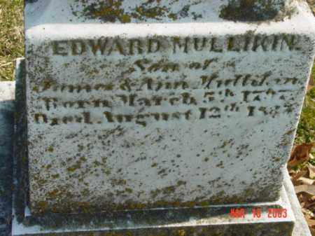 MULLIKIN, EDWARD - Talbot County, Maryland | EDWARD MULLIKIN - Maryland Gravestone Photos