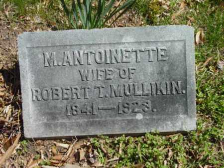 MULLIKIN, M. ANTOINETTE - Talbot County, Maryland | M. ANTOINETTE MULLIKIN - Maryland Gravestone Photos