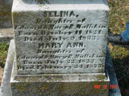 MULLIKIN, SELINA - Talbot County, Maryland | SELINA MULLIKIN - Maryland Gravestone Photos