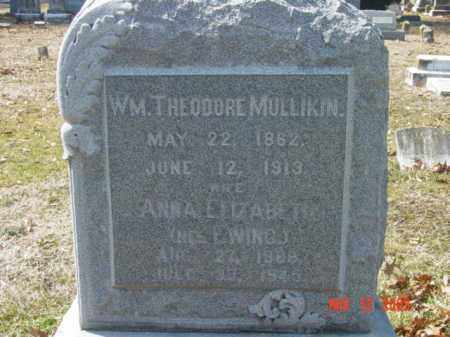 MULLIKIN, ANNA ELIZABETH - Talbot County, Maryland | ANNA ELIZABETH MULLIKIN - Maryland Gravestone Photos
