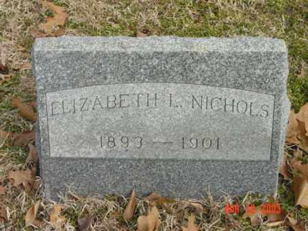 NICHOLS, ELIZABETH L. - Talbot County, Maryland | ELIZABETH L. NICHOLS - Maryland Gravestone Photos