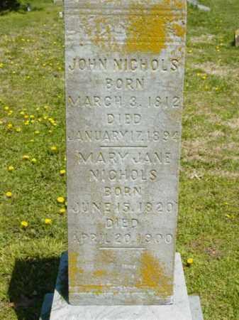 NICHOLS, MARY JANE - Talbot County, Maryland | MARY JANE NICHOLS - Maryland Gravestone Photos